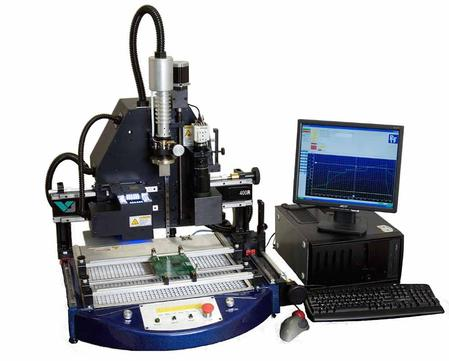 The 400R semi-automatic rework system is a high value flexible machine with a small foot-print.