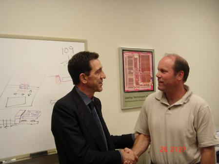 Massimo Sant'Angelo, Sales Manager of Life Project, and Donald Naugler, President of VJ Electronix.