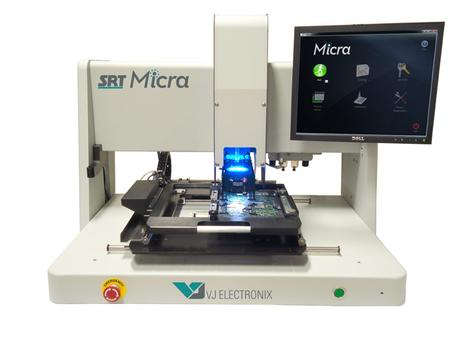 The SRT Micra is a new benchtop platform specifically designed for the rework of mobile products incorporating small, high-density electronics.