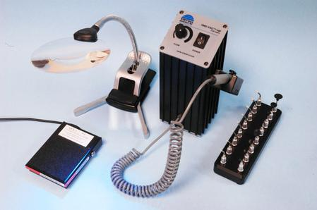 The SMD-VAC™-HP 110 Volt System (V8100A-SP8-BD-MAG1) runs on 12 VDC with a precision pump and motor that generates over 15