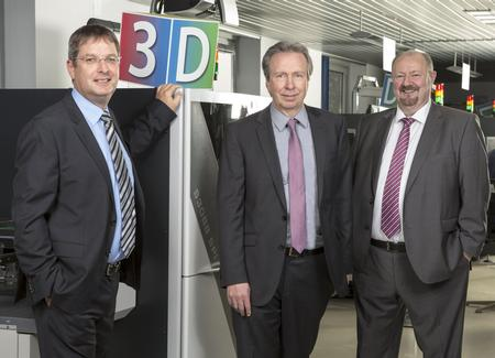 Executive board of Viscom AG: Dirk Schwingel, board member in charge of finance, controlling, investor relations and human resources; Volker Pape, board member in charge of sales, international business and company development; Dr. Martin Heuser, board member in charge of technology, development and production (from left to right)