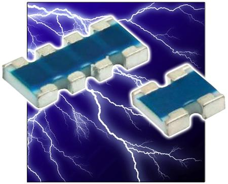 New Yorker Electronics supplies new Vishay Beyschlag Automotive Grade High-Resistance ACAS0606AT and ACAS0612AT Precision Thin Film Chip Resistor Arrays