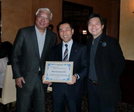 Mr. Senta Wong (L), Mr. Tetsuro Nishimura (C) and Mr. Victor Chang (R)