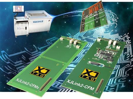 The XJLink2-CFM is an advanced multi-TAP JTAG controller that fits into one of four Custom Function Module (CFM) locations on a Teradyne Multi-Function Application Board. It offers convenient, integrated access to XJTAG's powerful test and programming tools from Teradyne's TestStation™ In-Circuit Test Systems.