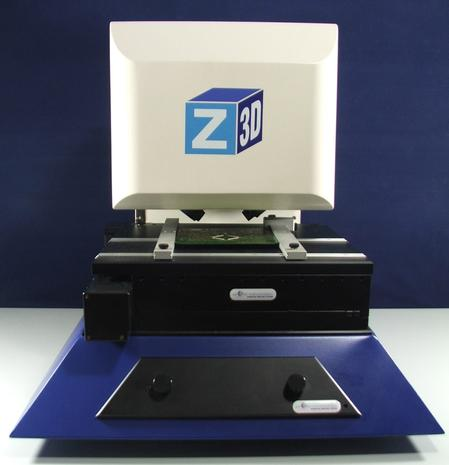The Z-Check 3D system is the latest addition to the successful Z-check family. It provides a large scanning area and unique 5-line LED scanning in addition to all the major features of this well established bench top solder paste inspection system.