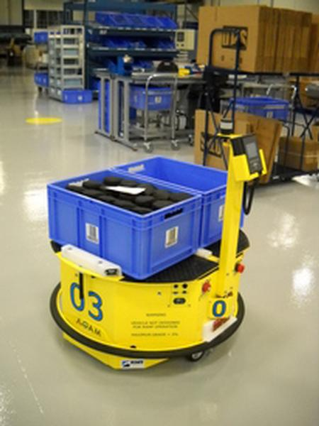 The ADAM, powered by Adept Motivity, is a category-defining mobile robot that provides fully autonomous transport of goods in manufacturing applications. It is a unique, cost-effective, and expedient solution for product transportation propels automation to new levels of possibility.