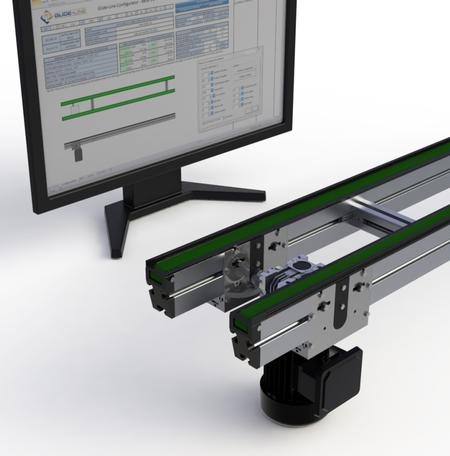 Glide-Line's configurator software and 2-strand conveyor.