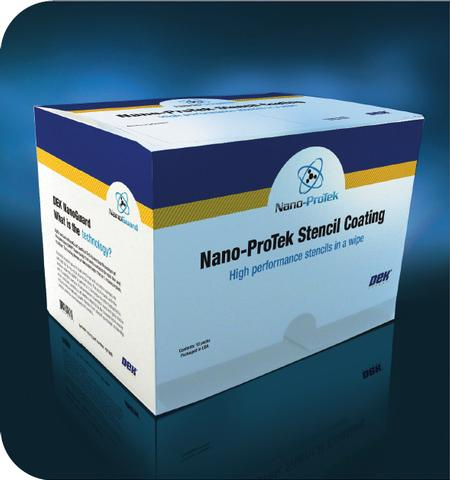 Nano-ProTek is an easily applied, stencil coating technology that renders the stencil surface 'fluxophobic'. It increases cleaning effectiveness and reduces cleaning frequency.