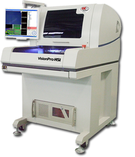 VisionPro HSi is high speed, sophisticated 3-dimensional solder paste measurement system coupled with an intuitive Windows® user interface, and packaged in a rugged, bench-top portable system designed for the electronics production floor.