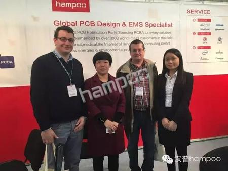 Infineon representatives visited Hampoo booth.