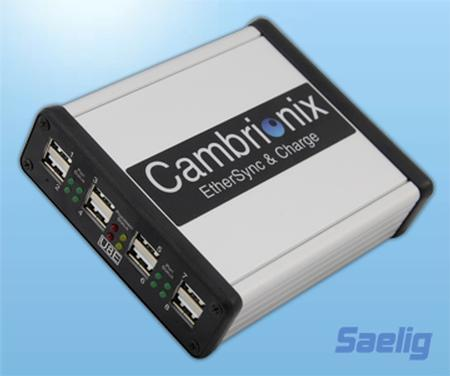 Cambrionix EtherSync 8 - update/sync/charge USB products anywhere!