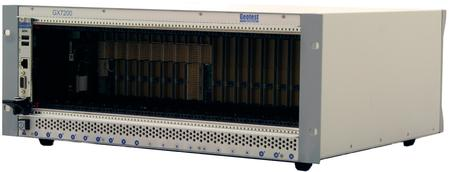 The GX7200, a 21-slot PXI Express chassis, features the most slots in the industry and requires only a single slot for the controller, providing 20-slots for supporting PXI-1, PXI-hybrid, and PXIe modules
