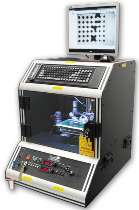 The Jewel Box Ultra Compact is a full featured microfocus x-ray system that can easily fit on a desk or in a small lab. It offers up to 500x geometric and 2,000x electronic magnification.