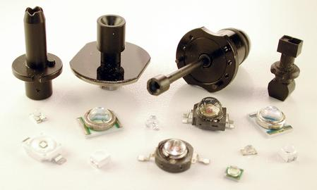 Special nozzles for LEDs