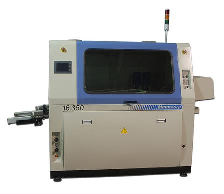 Manncorp's new wave solder machine answers requests for a compact, mid-volume system with features and benefits of large volume machines.