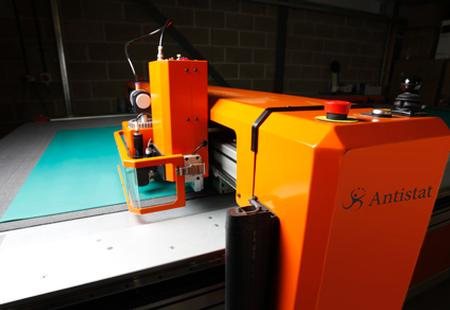 Photograph of new Antistat antistatic mat cutting equipment