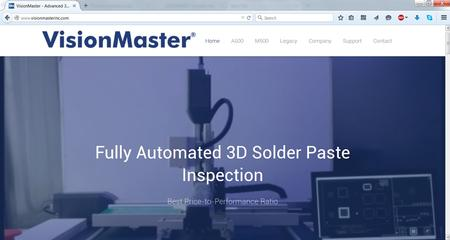 VisionMaster is the leader in 3D benchtop solder paste inspection and now VisionMaster's updated website is live