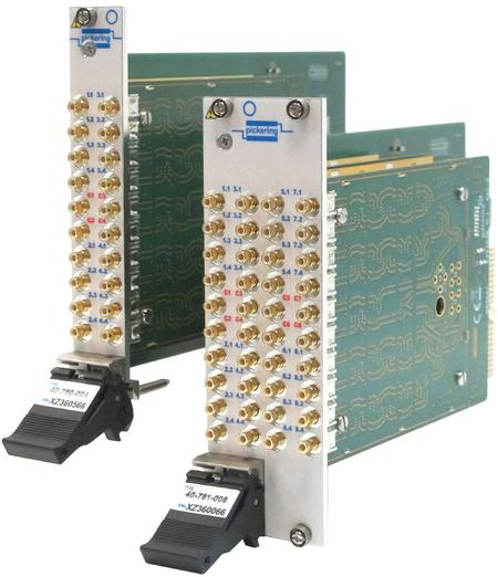 This new range of PXI RF Multiplexers (series 40-760) is available in the following configurations: dual, quad and octal SP4T, single, dual and quad SP8T, single and dual SP16T and single SP32T.