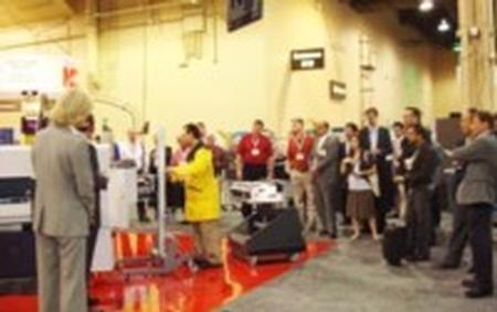 The SIPLACE SX live gantry upgrade demonstration was the main attraction on the show floor