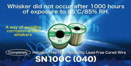 Halogen-free lead-free flux-cored solder wire SN100C (040).
