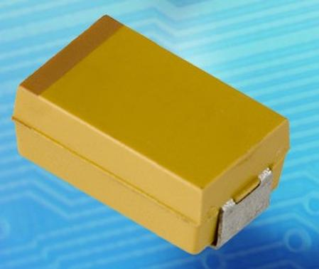 solid tantalum chip capacitor offer voltage rating to 50V