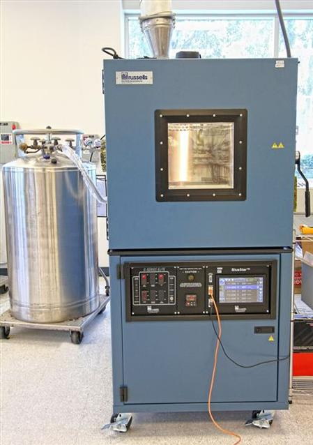 Thermal cycling test chamber from Russells Technical Products.