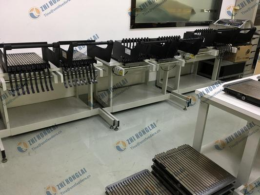 Universal Instruments feeder bank assy , feeder storage table , cart and feeder tranfer cart