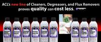 ACL's complete line of high purity solvents are the finest, most effective products made for the critical cleaning and degreasing of electronics, electrical assemblies and sensitive components.