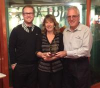 From Left to right: John Hall, Aqueous' National Sales Manager, Pam and Larry Aderman