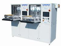 The Trident Duo High-Yield Automatic Defluxing and Cleanliness Testing System provides a cost-effective alternative to inline defluxing systems.