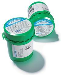 Alpine OT2, halogen- and halide-free solder paste.