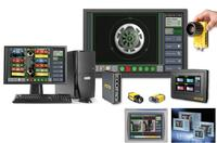 The VisionView® operator interface is ideal for monitoring and controlling your Cognex® In-Sight® vision systems and DataMan® readers on the factory floor and allows operator controls specific to the application. It is now available for use with third-party Siemens® and Rockwell® CE panels.
