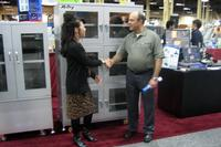 From left to right: Michelle Ogihara, Sales & Marketing Manager at Seika Machinery, and Farid Anani, Computrol's Manufacturing Manager.