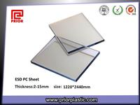 ESD polycarbonate sheet with clear color