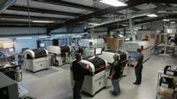Tucano screen printer, Paraquda SMT machine, inspection conveyor, and an RO400FC reflow oven)