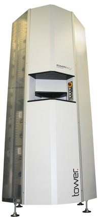 The Tower offers storage space for 546 reels. For additional storage capacity, multiple towers can be clustered. The system includes software for stock management and consumption tracking.