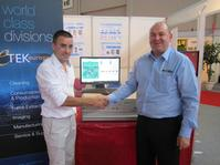 Thomas Vignard, Sales Director, STP Electronics, and Mike Nelson, Managing Director, Etek Europe