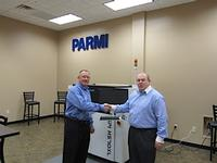 Jeff Mogensen, General Manager of Parmi USA, and Mike Nelson, Managing Director of Etek Europe, at the Parmi Business Development Meeting that took place Dec 10-11, 2012.