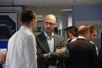 Elliot Loven of Europlacer Distribution's UK Sales talks to a customer at the company's User Group event.