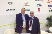 Frank Bose (R.H.S.), Managing Director of Essemtec is handshaking with Hamed El Abd (L.H.S.), Executive Director of WKK.