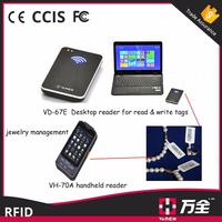 EPC Class 1 Gen 2/ISO18000 6C UHF RFID Desktop reader with emulation keyboard