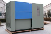 Thermal shock test chamber with sliding door