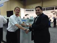 From left to right: Bryce Timms of Juki and Mario Scalzo of Indium Corporation at APEX 2014. This year marks the 10th anniversary of Live at APEX.