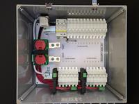 FIRST Rapid Shutdown® Combiner box with Capacitor Discharge.