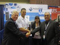 Dave Trail and Cameron Valade of Horizon Sales with Margy Khoshnood and Ben Khoshnood of Inovaxe