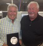 Dave Trail and Vern Emery with the 2012 Rep of the Year Award from JAS, Inc.