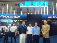 Pictured from left to right: David Lane, OnCore Manufacturing's CTO, Steve Nadeau, JAS Inc.'s National Sales Manager, Scott Fillebrown, ACD's CEO, and Dee Claybrook, SW System's President