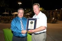 David Raby presented Jack Reinke with the Excellence in Leadership Award