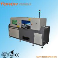 Монтаж элементов. На вооружении нашей компании находится автомат для установки компонентов TERMWAY L6. Устанавливаемые компоненты Резистивно-емкостные компоненты 0603 и выше, различные чипы LED, при этом обеспечивать установку чипов SOP SOT. Максимальная площадь печатной платы 1200×300mm. Для мелкосерийного производства мы используем ручной манипулятор SMD монтажа Fritsch LM 901. Beijing Torch Co.,Ltd. Skype:torchsmt08 Tel:8610-60509015ext862 Mobile:8613241060184 E-mail:s8@tonzh.com.cn Tra