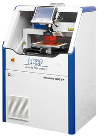 The MicroLine 1120 P is a UV laser system designed for processing bare rigid and flexible PCB circuit boards.